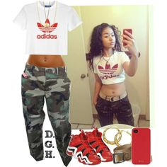 """Adidas."" by dopegenhope on Polyvore"