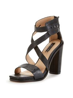 Elyse Leather Sandal from Summer Trend: Block-Heel Sandals on Gilt