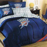 Oklahoma City Thunder 7-Piece Full Size Bedding Set $150