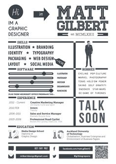 providing a visual interepretation of my skills interests and employment history Social Media Software, Curriculum, Pop Culture, Typography, Behance, Photoshop, Branding, Resume, Letterpress