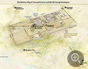 Map Of Qinshihuang Mausoleum Xian China Tourist Map City Layout Xi An
