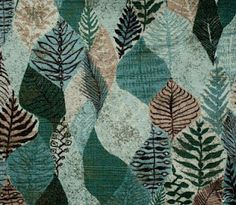 1950's botanical fabric