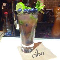 Cibo Wine South Beach has the best blueberry mojitos in Miami!