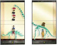 vitrines louis vuitton dinosaures galerie de l'evolution jardin des plantes