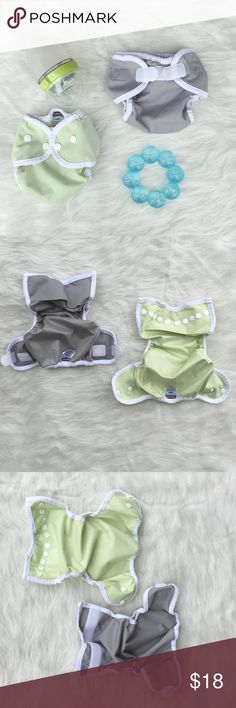 Thirsties Duo Wrap Cloth Diaper Covers XS Thirsties duo wrap cloth diaper covers. Both are xsmall/0-3 months which fits 6-12 lbs. Celery (green)  is a snap and Fin (gray) is aplix (Velcro). EUC. ❌ No Trades ❌ No off Poshmark transactions ❤️ Bundle and save 📬 Fast shipper ❤️ I love reasonable offers Thirsties  Accessories Diaper Covers