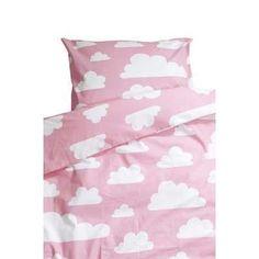 Färg & Form Wolken Dekbedovertrek 1-persoons - Roze