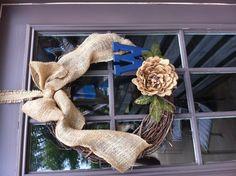 Love my back door wreath!