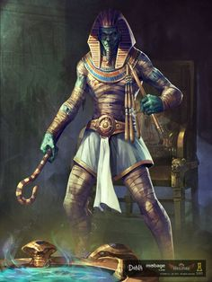 m Cleric egyptian god temple Staff N Creature