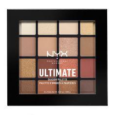 NYX Professional Makeup - Smokey & Highlight Ultimate Shadow Palette in Drugstore Eyeshadow Palette, Eyeshadow Base, Eyeshadow Makeup, Drugstore Makeup, Eyeshadow Pencil, Neutral Eyeshadow, Mary Kay, Palette Nyx, Make Up Kits