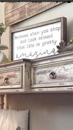 "Life is pretty amazing"" sign wooden sign sayings, family wooden signs Rustic Signs, Wooden Signs, Rustic Decor, Wooden Sign Quotes, Sign Sayings, Cute Signs, Diy Signs, Diy Pallet Projects, Home Projects"