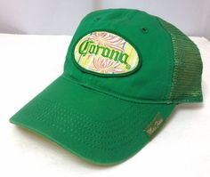 Womens CORONA BEER HECHO EN MEXICO HAT Relaxed-Fit Trucker Green Yellow  Pink HTF   b6ee53aa2fbd