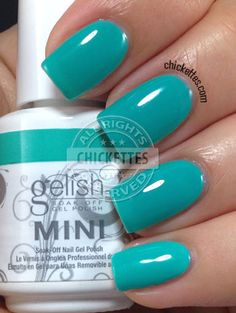 Chickettes.com Gelish Rub Me the Sarong Way from the Gelish Colors of Paradise Collection #Gelish #gelpolish