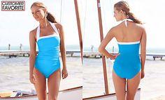 Lauren Ralph Lauren Tummy-Control Ruched Halter One-Piece Swimsuit