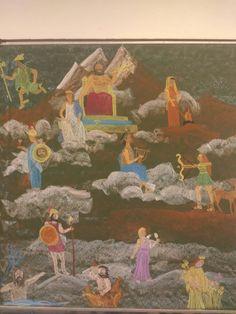 Waldorf fifth grade - Olympian Greek gods drawing