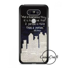John Green Paper Towns Quotes Cover Lg G6 Case | casescraft