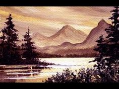 Easy Little Mountain Lake 1 (2x3) / Small & Simple Oil Painting Exercise - YouTube