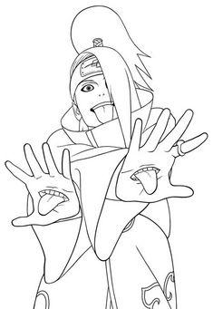 naruto coloring pages akatsuki Anime Naruto, Otaku Anime, Naruto Uzumaki Art, Art Anime, Naruto Drawings, Naruto Sketch Drawing, Anime Drawings Sketches, Anime Sketch, Akatsuki