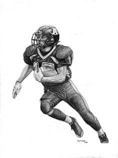 How To Draw Football Players Football Player Drawings Drawing