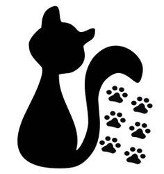 Moldes e Dicas de Aplicação de Adesivos de Parede Applique Patterns, Quilt Patterns, Cat Crafts, Diy And Crafts, Stencils, Cat Template, Animal Templates, Cat Quilt, Cat Drawing