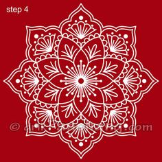 This page provides Bengali Alpana Designs with title Bengali Alpana 1 for Hindu festivals.