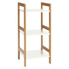 DREW Bamboo and white lacquer 3-shelf bookcase | Buy now at Habitat UK