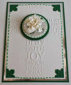 Konfirmation, Cross, Embossing-Folder, Blumen