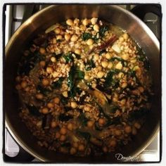 Vegetarian Archives - Page 2 of 2 - Domenica Cooks Rustic Chickpea and Mushroom Soup with Farro