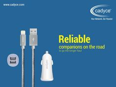 Our range of high capacity car chargers are the ideal roadies to plan a long journey with. An ergonomic, pristine design ensures an added grace to your pretty dashboard view. Visit cadyce.com to view the entire range. #Cadyce #products #portable #charger