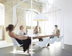 Swinging ideas at the meeting room.