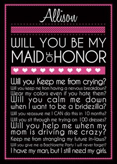 for my MOH...this totally applies to Kat because she is going to hate the colors :p hahahahaha