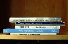 Poetry Created From The Titles of Stacked Books: The History of the Universe