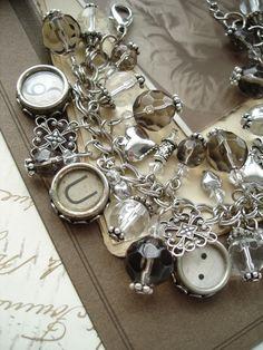 Typewriter Keys Bracelet in Antique Silver #typewriterkeyjewelry #vintagetypewriterbracelets