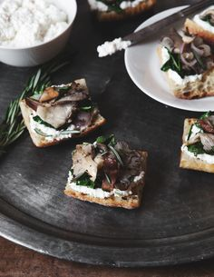 winter chard and mushroom bruschetta | a better happier st. sebastian