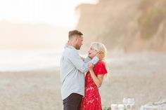 The story behind this dream beach proposal is just as gorgeous as their photos, it's all so perfect. <3
