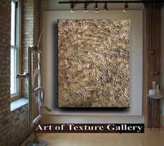 Items similar to Abstract Texture Painting Huge Original Modern Brown Beige Champagne Gold Coffee Metallic Knife Sculpture Impasto Oil by Je Hlobik on Etsy Modern Oil Painting, House Painting, Diy Arts And Crafts, Texture Painting, Sculpture Art, Abstract Art, Creations, Canvas Art, Brown Beige