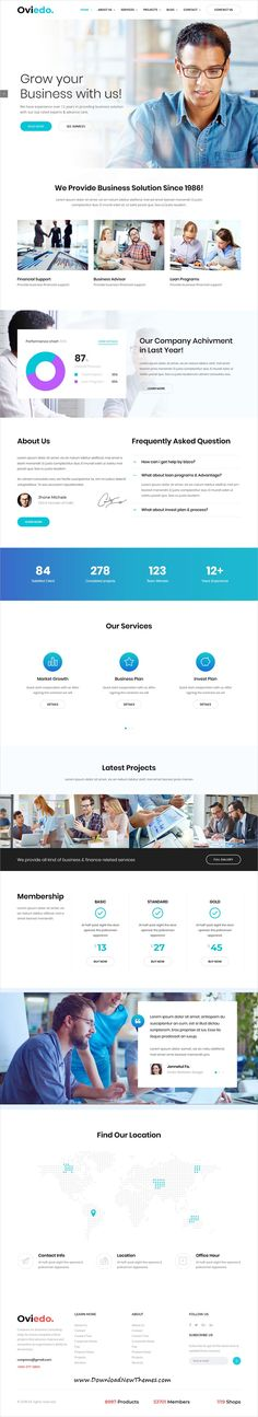 Oviedo is clean and modern design responsive multipurpose #WordPress theme for creative #corporate business #website with 6 niche homepage layouts to download & live preview click on image or Visit #webdesign