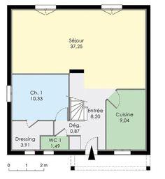 Plan habill etage maison maison familiale 9 pinterest for Plan maison familiale