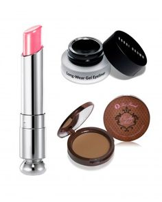 """See the """"Black-Lined Eyes + Sunny Cheeks + Rose Lips"""" in our Stunning Wedding Makeup Color Combinations gallery"""