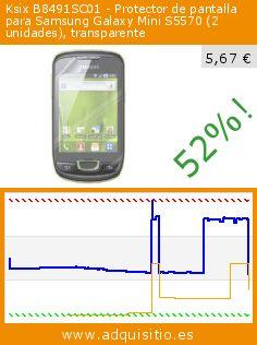 Ksix B8491SC01 - Protector de pantalla para Samsung Galaxy Mini S5570 (2 unidades), transparente (Accesorio). Baja 52%! Precio actual 5,67 €, el precio anterior fue de 11,91 €. http://www.adquisitio.es/ksix-k6/protector-pantalla-1