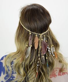 Look at this Leto Collection Earthy Cascading Feather Headband on #zulily today!