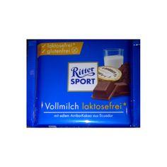 Ritter Sport melkchocolade - Lactosevrij  Glutenvrij - verpakking 100 gram Ritter Sport, Snack Recipes, Snacks, Low Fodmap, Kakao, Pop Tarts, Personal Care, Arm, Snack Mix Recipes