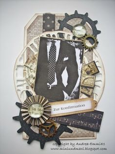 Konfirmation - Stempel von Kort and Godt Hobbies For Men, Hobbies And Crafts, Diy And Crafts, Arts And Crafts, Paper Crafts, Magnolia, Birthday Cards For Men, Masculine Cards, Texture Art