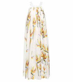 Cotton and silk-blend fil coupé dress | Fendi