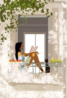 girl reading - The Student by Pascal Campion