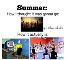 The life of a cheerleader😂 for me my summer is Social media, Cheer, and some shuffle dance Cheer Stunts, Cheerleading, Great White Sharks Cheer, Cheer Funny, Cheer Workouts, Haha So True, Cheer Quotes, Cheer Outfits, All Star Cheer