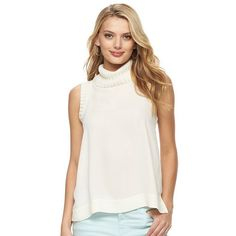 14a34498feb8 Women s Juicy Couture Sleeveless Turtleneck Top