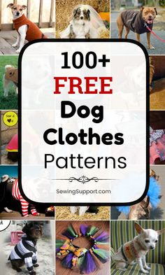 Lots of free dog clothes sewing patterns. Sew dog t-shirts, dresses, coats, and more, for large and small dogs. How to make dog clothes. Dog Coat Pattern Sewing, Dog Pattern, Jacket Pattern, Small Dog Clothes Patterns, Clothing Patterns, Sewing Patterns, Small Dog Coats, Pet Coats, Dog Beds For Small Dogs