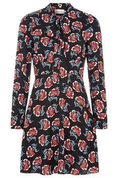 Louche Bouvier Floral Tie-Neck Dress