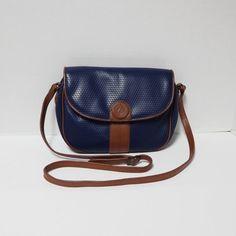 94767c2577 Vintage Liz Claiborne Navy Blue Shoulder Purse by FairfaxDavis Navy Blue  Purse