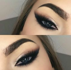 Trendy Smokey Eye Makeup Looks for Beginners 2019 - Page 3 of 4 - Style O Che., 35 Trendy Smokey Eye Makeup Looks for Beginners 2019 - Page 3 of 4 - Style O Che., 35 Trendy Smokey Eye Makeup Looks for Beginners 2019 - Page 3 of 4 - Style O Che. Smokey Eye Makeup Look, Blue Eye Makeup, Eyebrow Makeup, Eyeshadow Makeup, Smokey Cat Eye, Black Makeup, Makeup Eyebrows, Smokey Eyeliner, Makeup Brushes